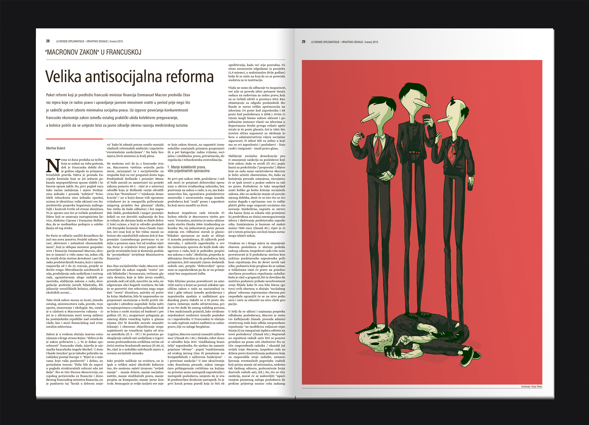 Le Monde Editorial illustration Linnch