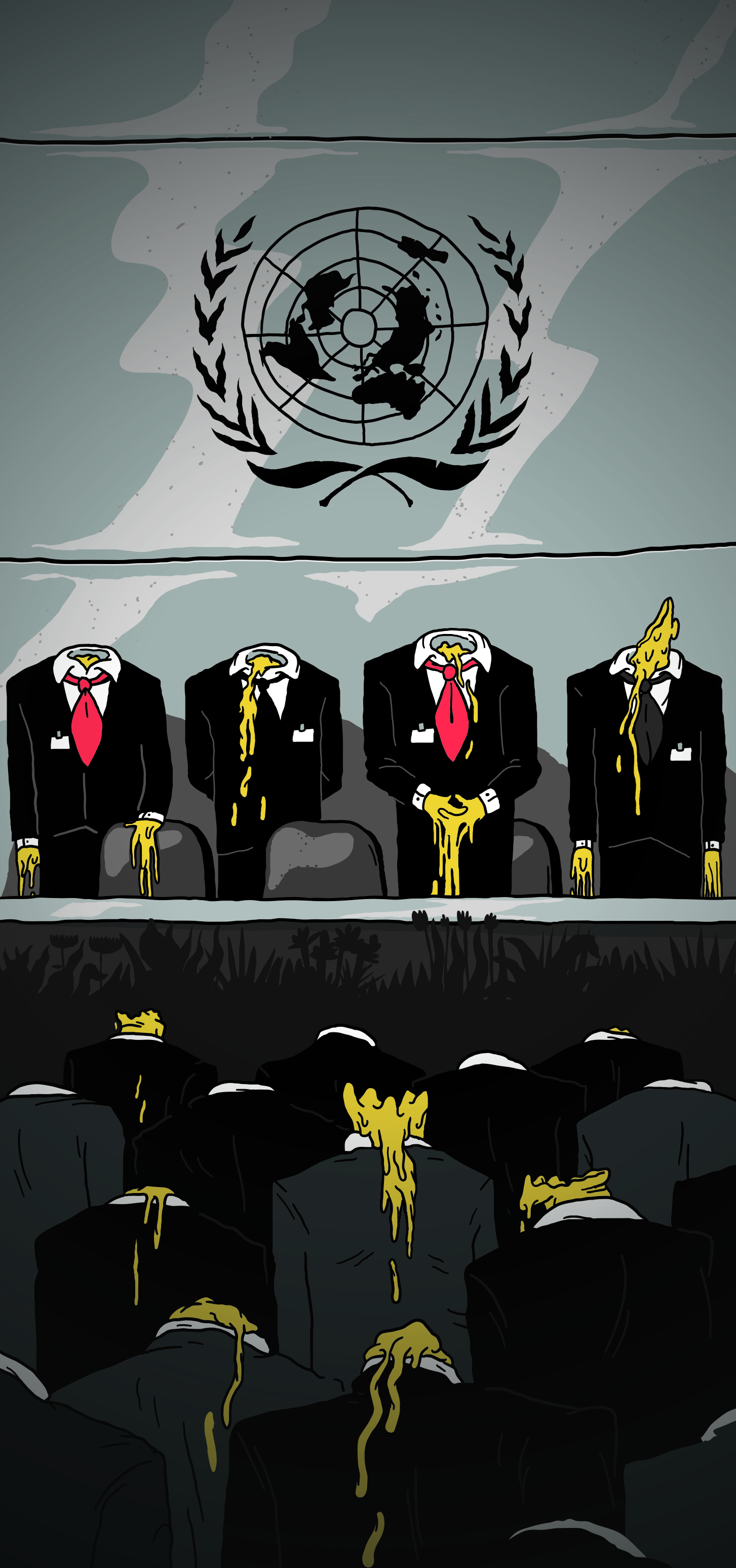 Le Monde Diplomatique Editorial illustration Linnch