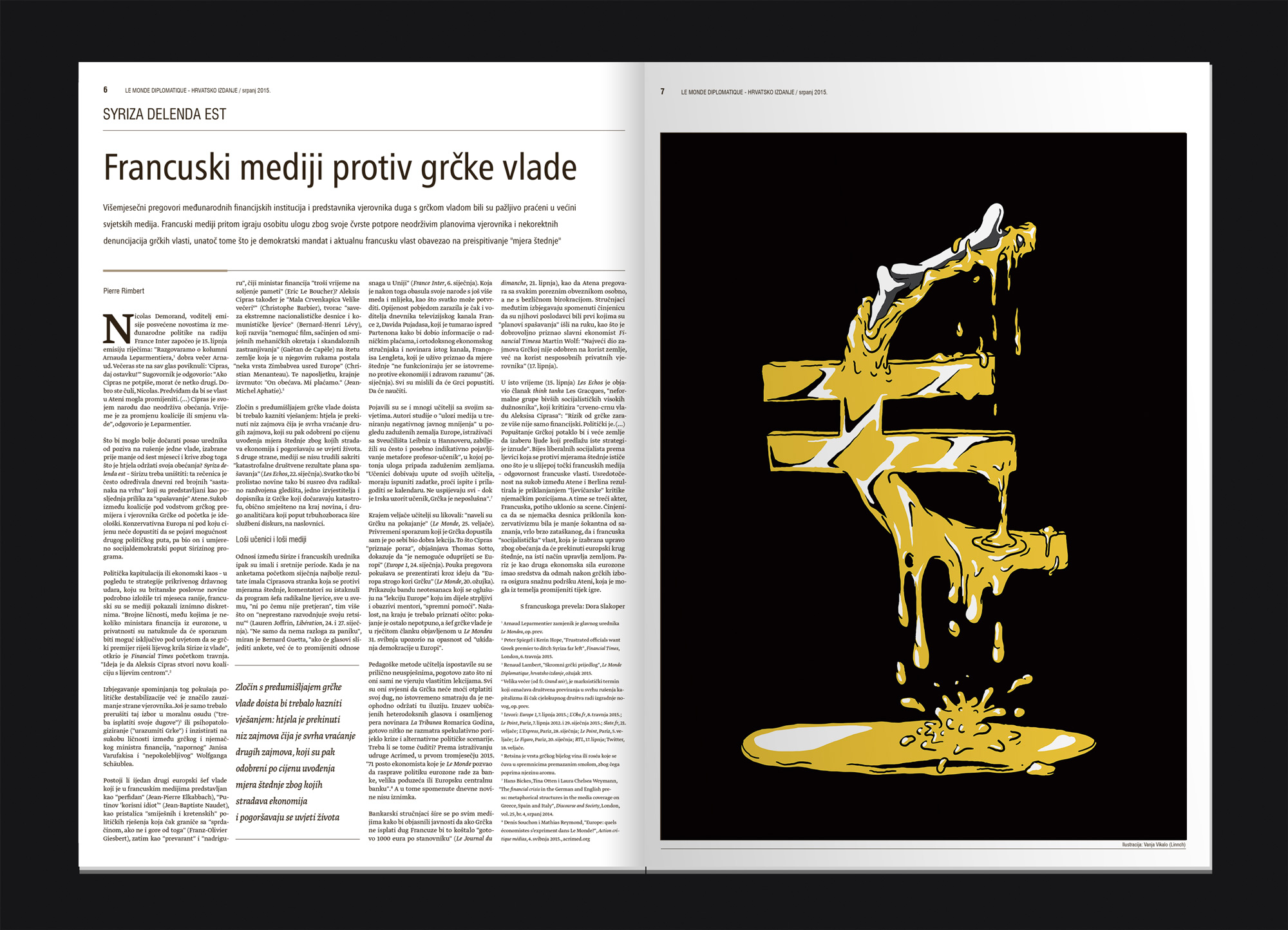 Le Monde Diplomatique Editorial illustration Linnch