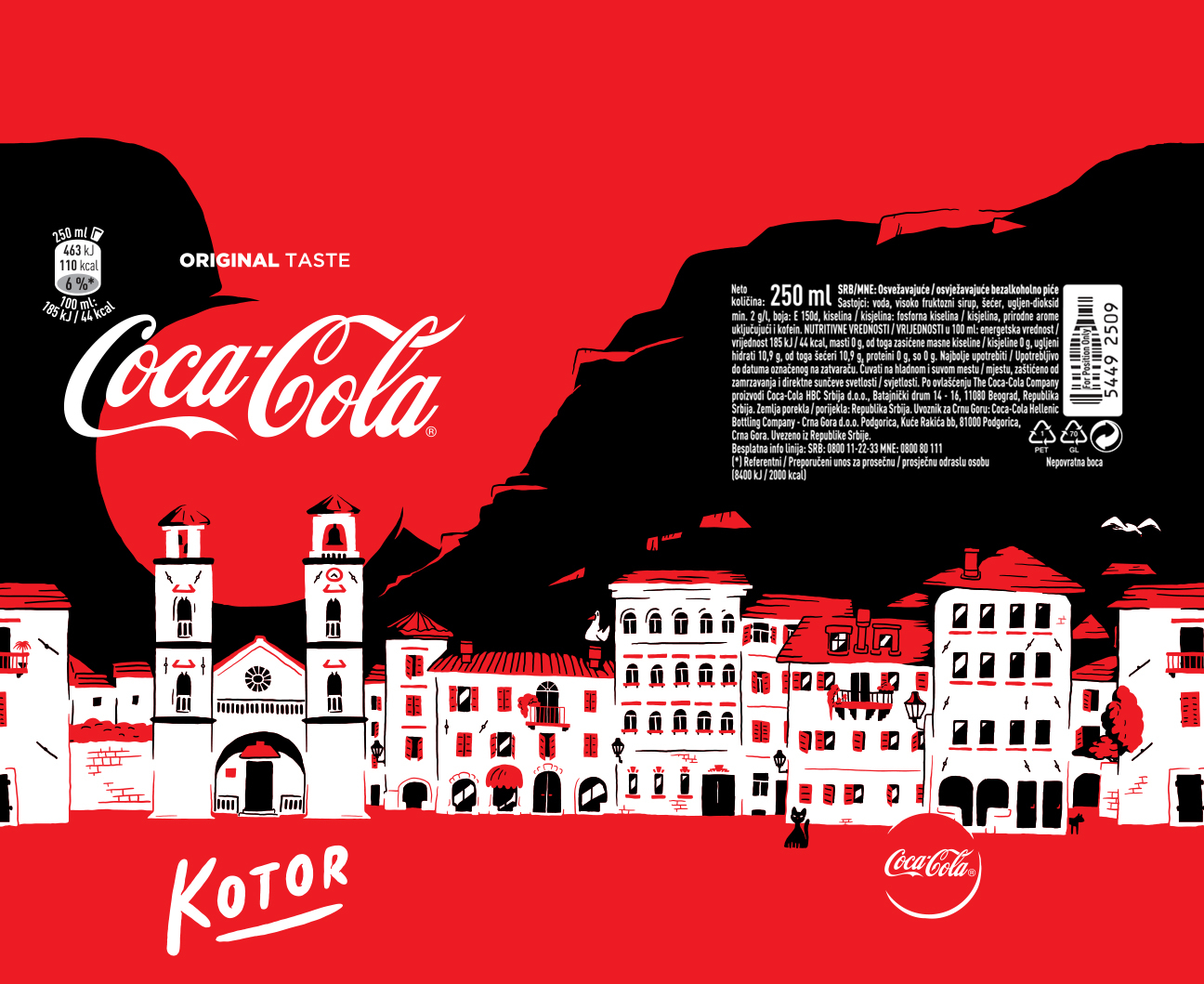 Coca Cola Kotor bottle illustration