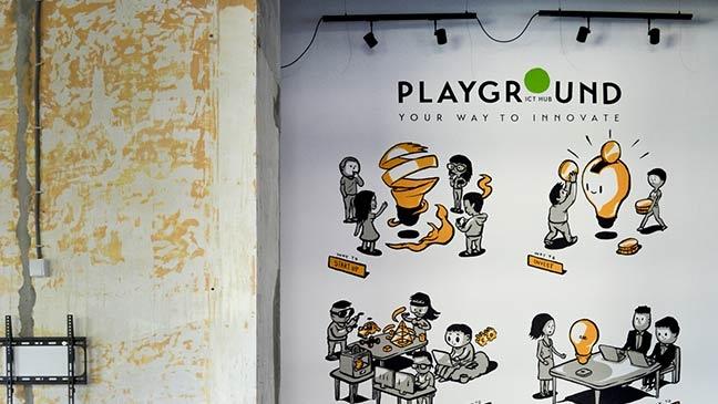 ICT Hub Playground – Office mural