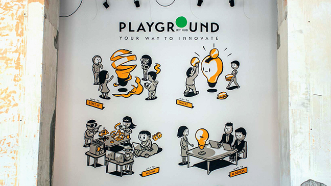 ICT Hub Playground – Office mural