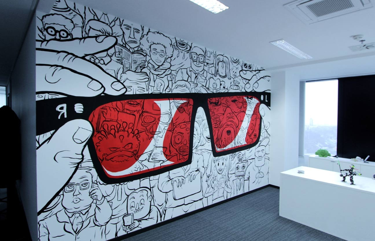 Reversinglabs office mural