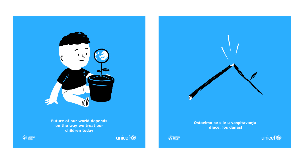 Unicef Montenegro - End violence - Illustration